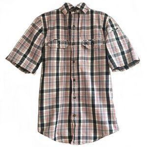 EUC Carhartt Men's CHAMBRAY Plaid Shirt-S